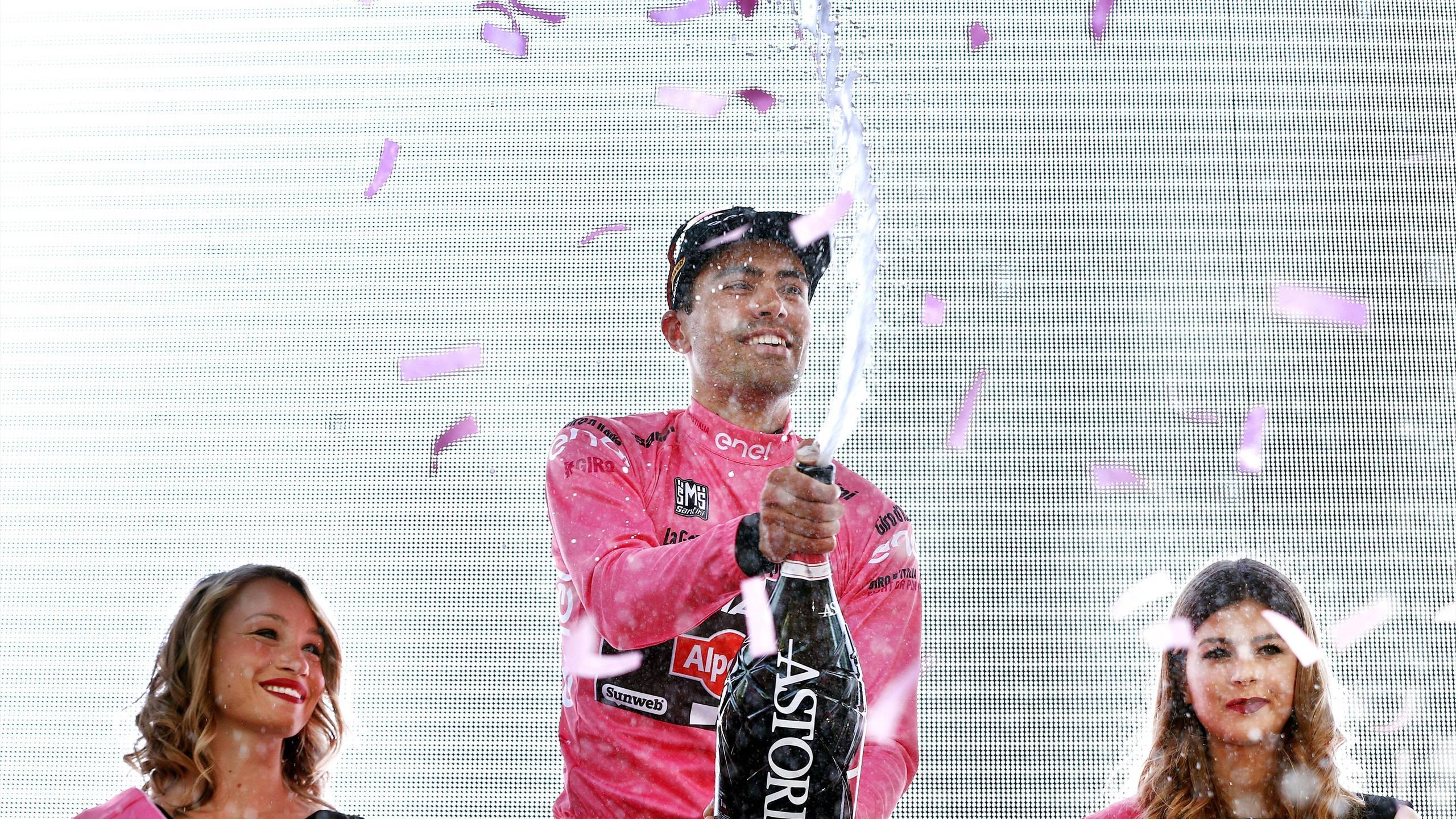 Tom Dumoulin, premier porteur du maillot rose sur le Tour d'Italie 2016