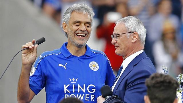 Leicester a fêté ses héros et Andrea Bocelli a illuminé l'avant-match
