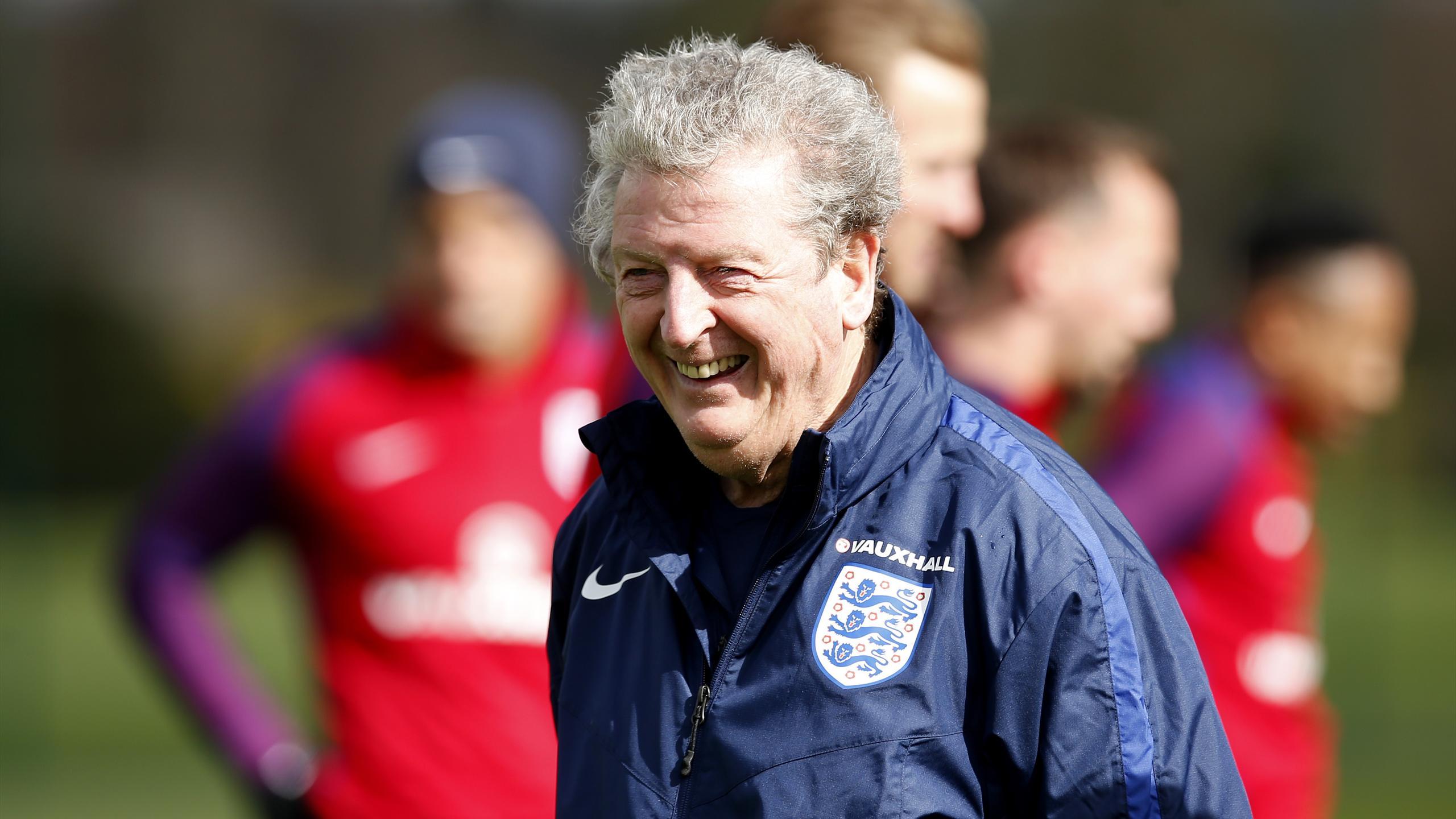 England boss Roy Hodgson at training
