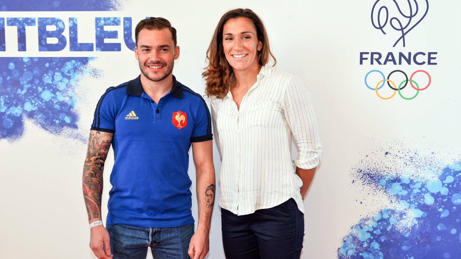 Terry Bouhraoua et Fanny Horta, capitaines des équipes de France à 7