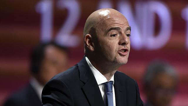 Pour 2026, Infantino envisage un Mondial avec 48 nations