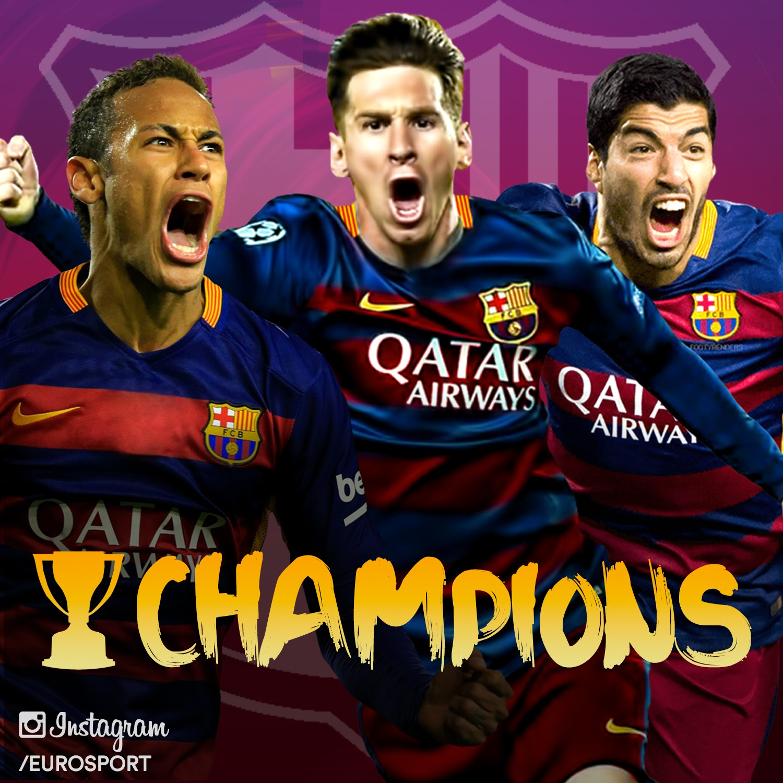 Le fc barcelone champion d 39 espagne apr s sa victoire grenade 0 3 liga 2015 2016 football - Championnat espagnol coupe du roi ...