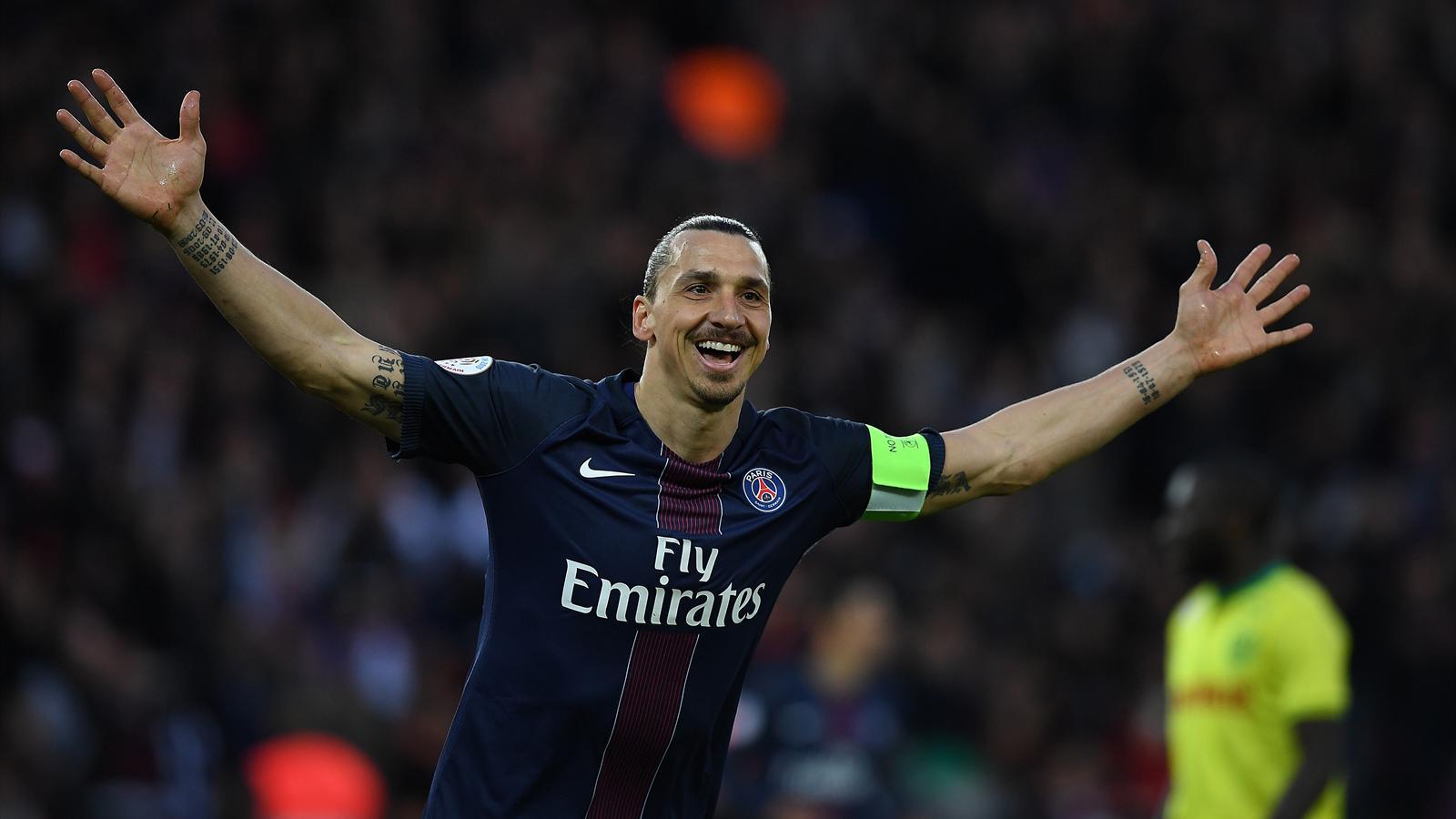 Zlatan Ibrahimovic bids farewell to Parc des Princes with scoring record - Ligue 1 2015-2016 - Football - Eurosport Australia