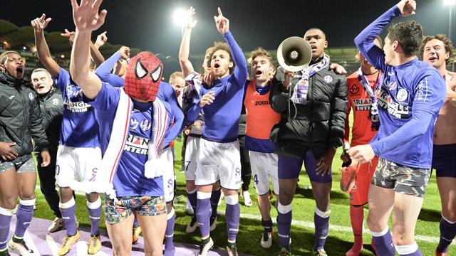 Toulouse se maintient au terme d'un match fou, Reims et le Gazélec relégués en Ligue 2