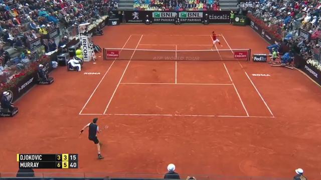 Au terme d'une balle de match sublime, Murray a brillamment fini le travail