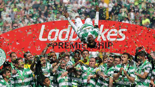 Celtic celebrate fifth straight Scottish title with thumping win over Motherwell