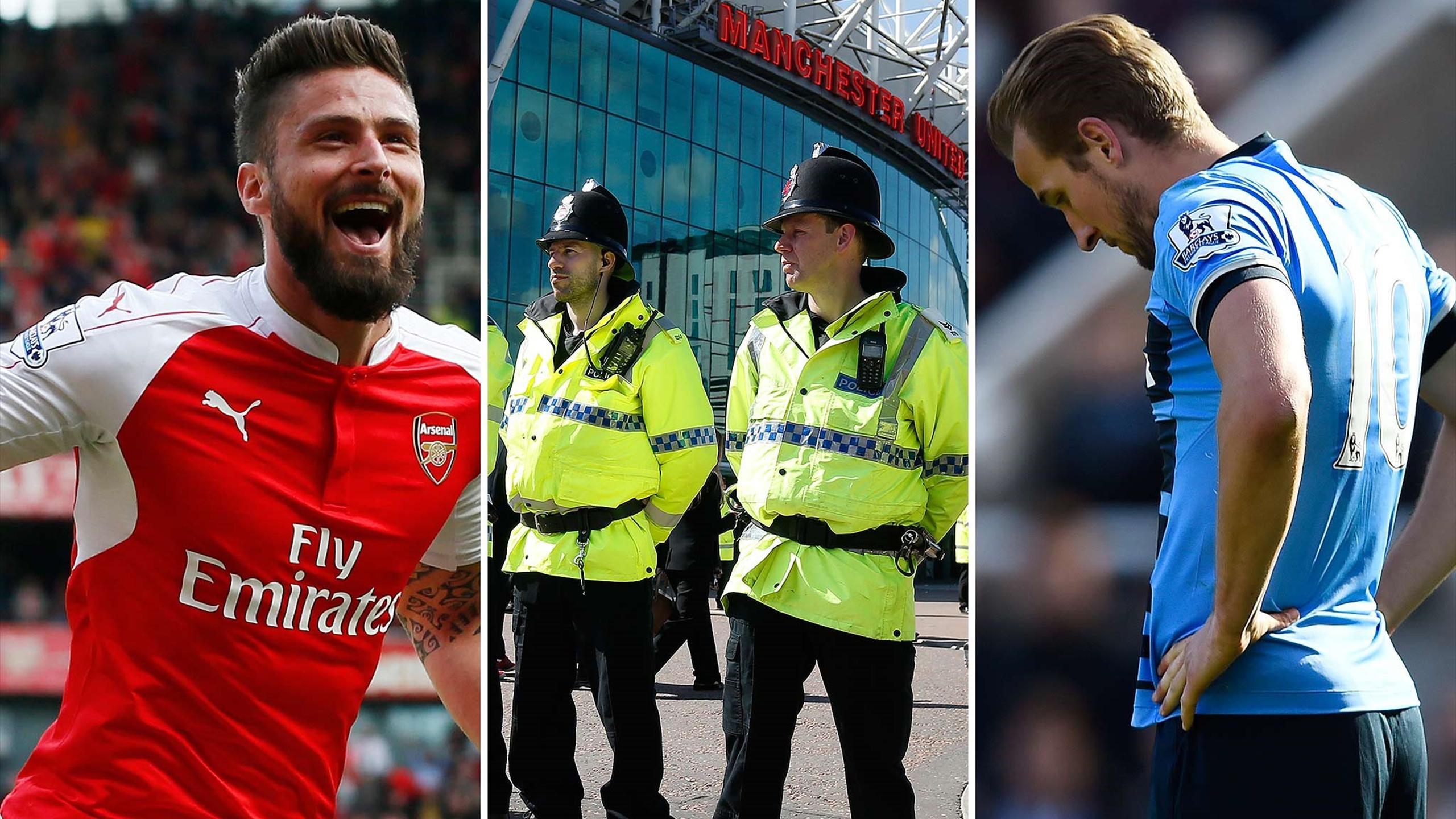 Giroud, Kane and the police