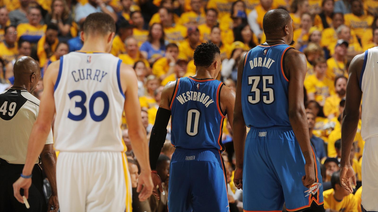 Playoffs NBA - Finale de conférence Ouest : les Warriors surpris d'entrée par le Thunder - NBA ...