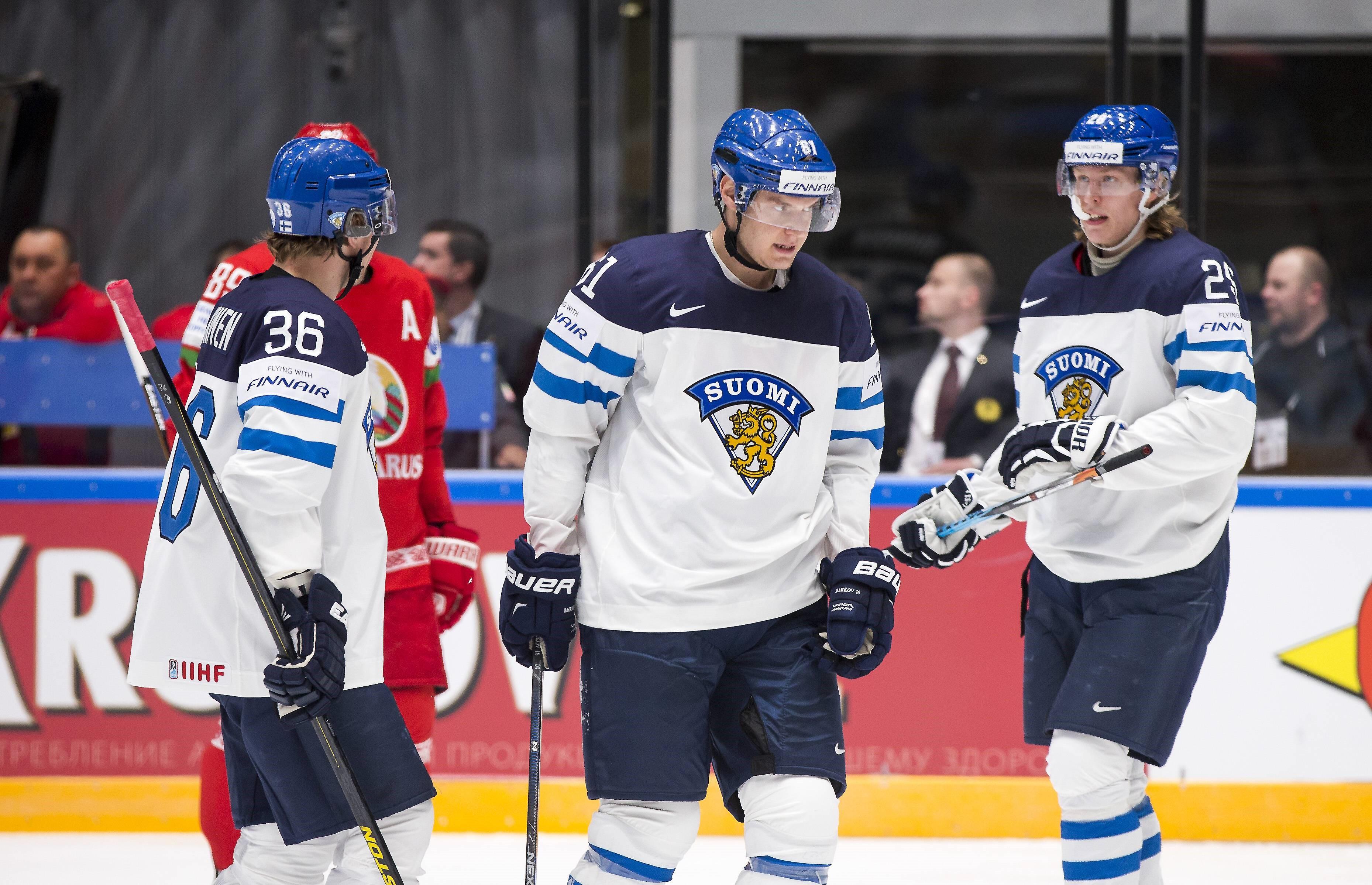 Финляндия: Юсси Йокинен, Александр Барков, Патрик Лайне