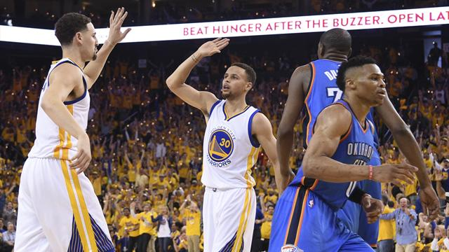 Curry inspires Warriors to level series with Thunder