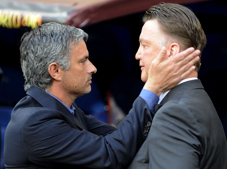 José Mourinho und Louis van Gaal beim Champions-League-Finale 2010