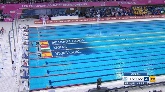 Mireia Belmonte y María Vilas, plata y bronce en los 1.500 libre del Europeo de Londres