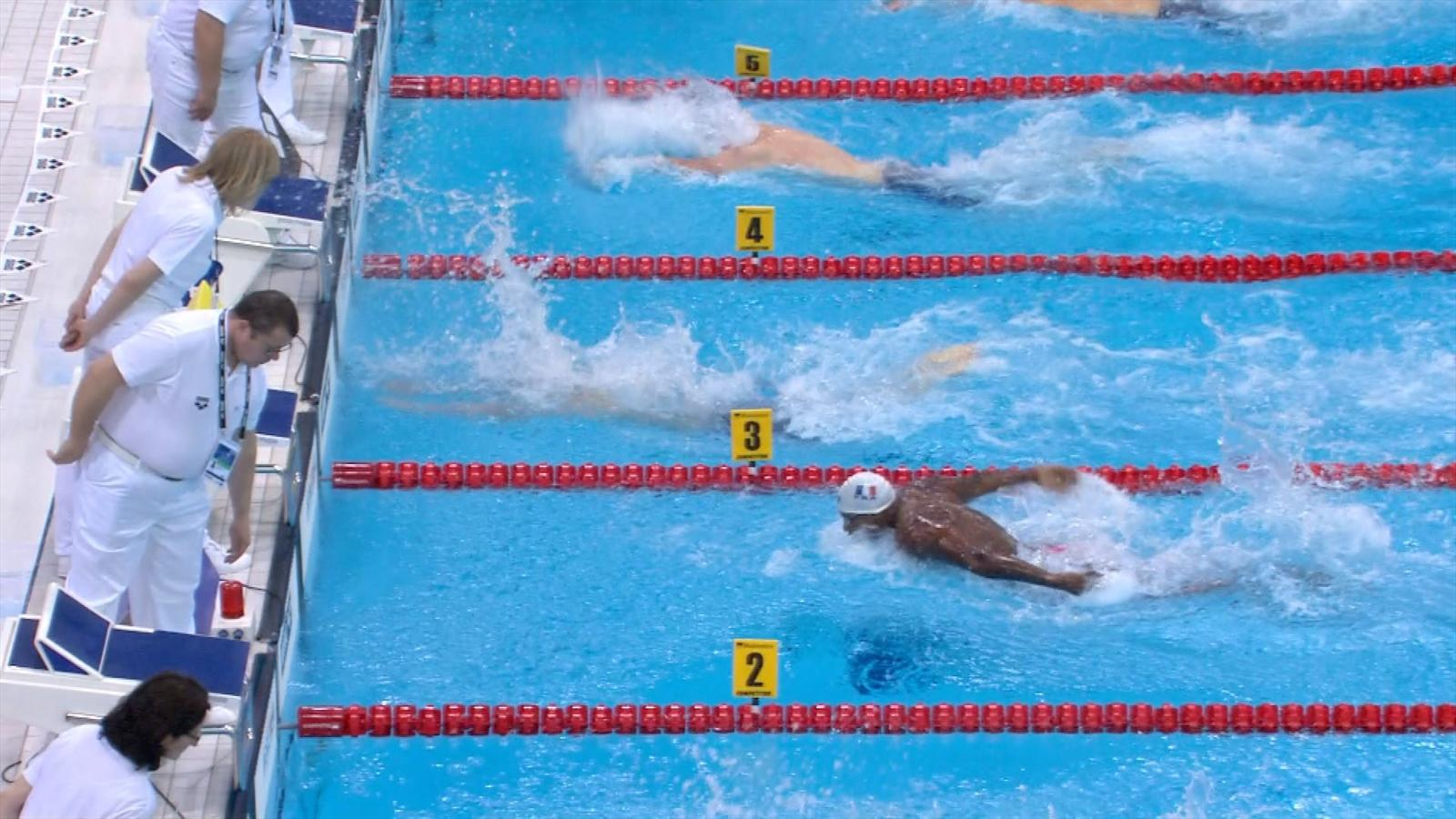Video cseh claims more gold in men 39 s 100m butterfly at - Butterfly tennis de table france ...