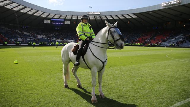 Rangers claim players were 'assaulted' after late Hibs win sparks mass pitch invasion