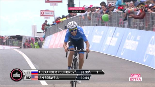 Highlights: Foliforov edges victory in Stage 15 time trial