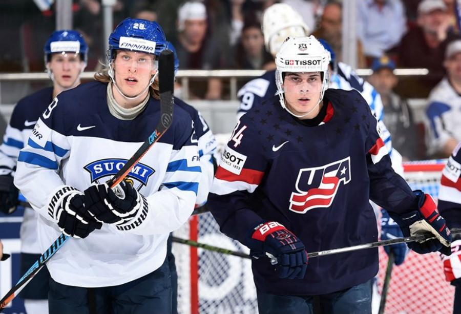 Патрик Лайне (Финляндия) и Остон Мэттьюс (США) – iihfworlds2016.com