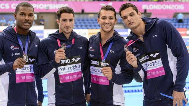 L'argent pour terminer : le relais 4 nages français clôt de belle manière la semaine