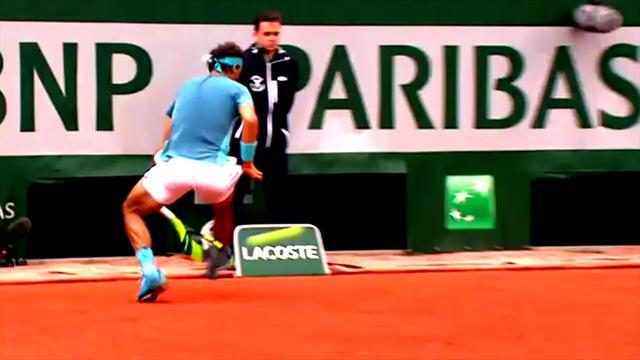 Top 5 Punkte: Nadals Wahnsinns-Tweener auf Platz zwei