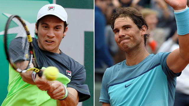 Roland Garros 2016, Rafa Nadal-Facundo Bagnis: Otro pelotero y otro hincha de River