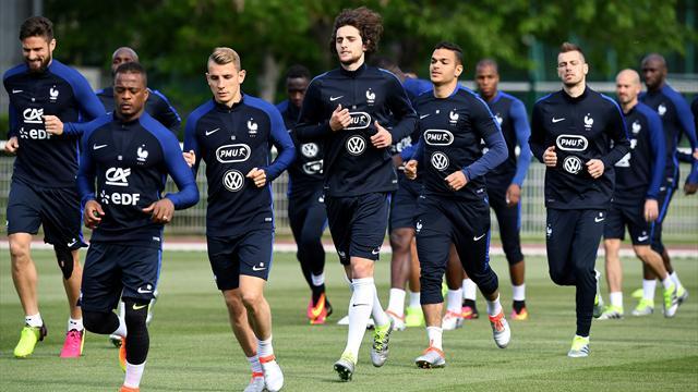 Martial, Coman et Gignac ménagés, Mathieu blessé : Les Bleus incomplets à l'entraînement