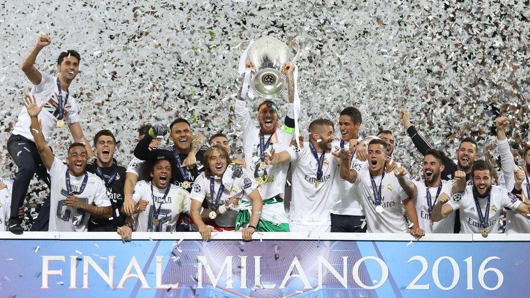 Real Mardrid FC conquering at Milan last season.