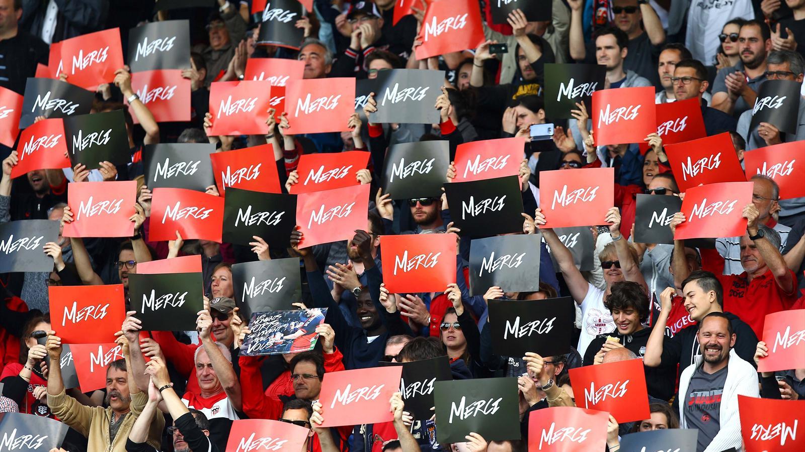 L'hommage du public du Stade toulousain à ses joueurs - 29 mai 2016