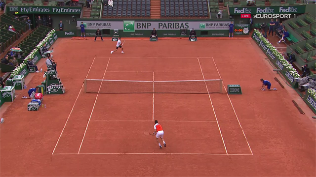 Un rallye de 30 coups : voici le premier point de Djokovic – Bautista Agut