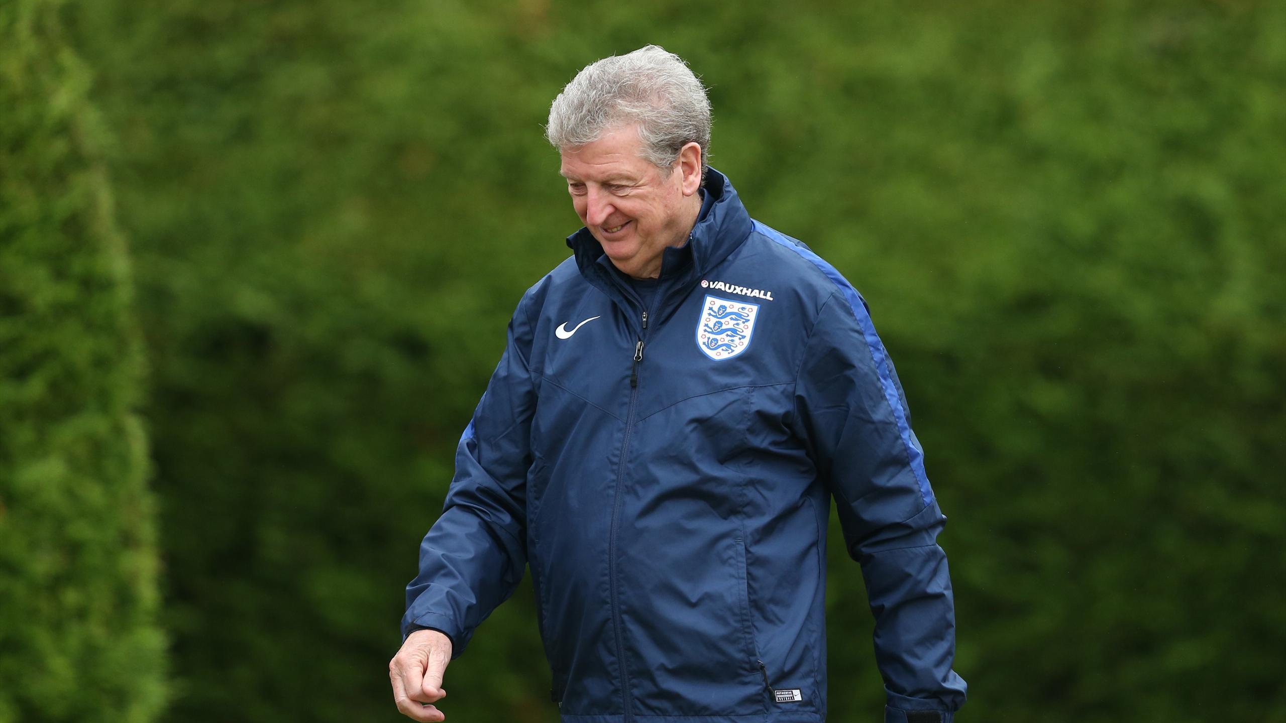 England manager Roy Hodgson during training