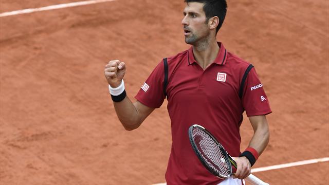 Tennis : Djokovic a us� de tout son talent pour gagner l'un des points les spectaculaires de la quinzaine