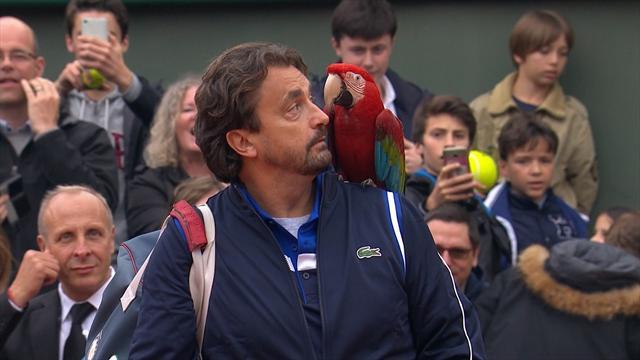 Pour affronter McEnroe, Leconte a débarqué avec… un perroquet sur l'épaule
