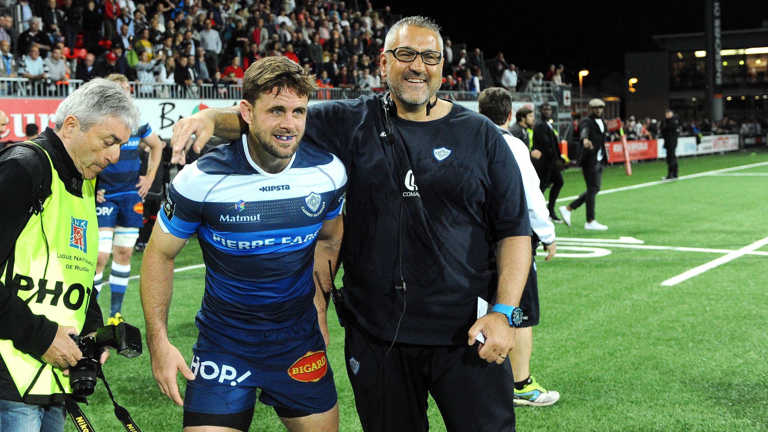 Rory Kockott et Christophe Urios (Castres) - 28 mai 2016