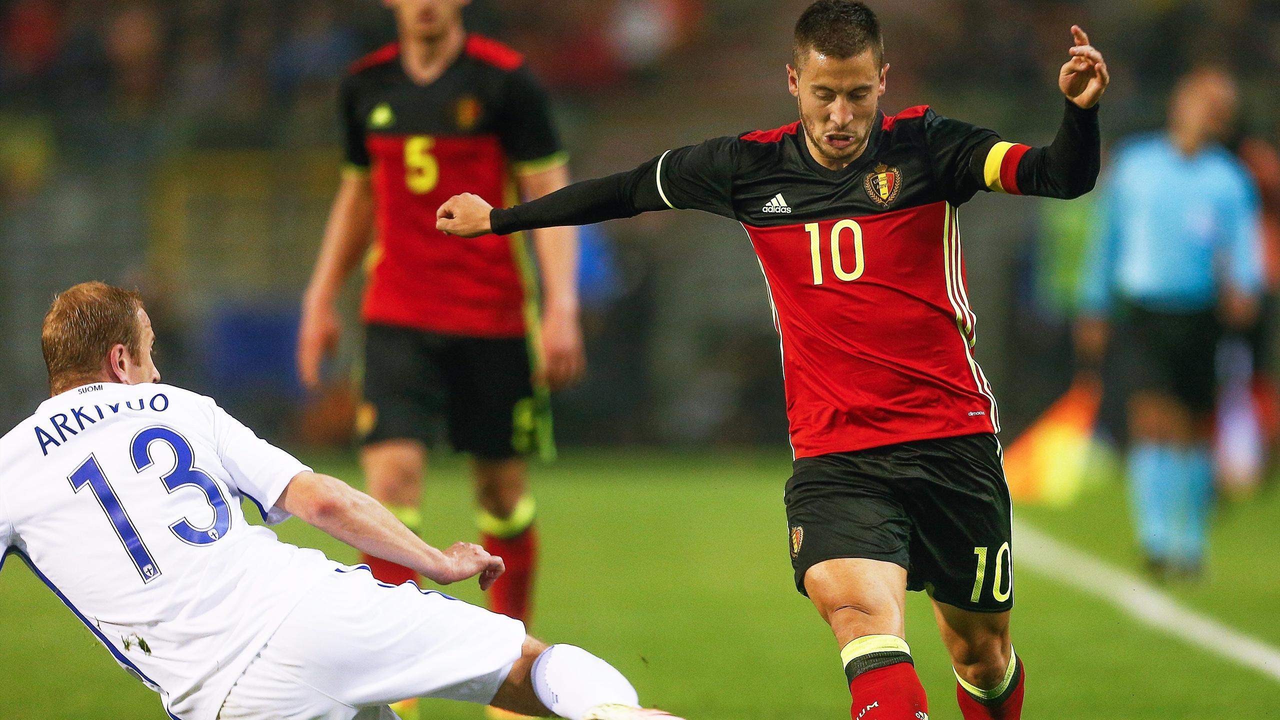 Hazard, con Bélgica.
