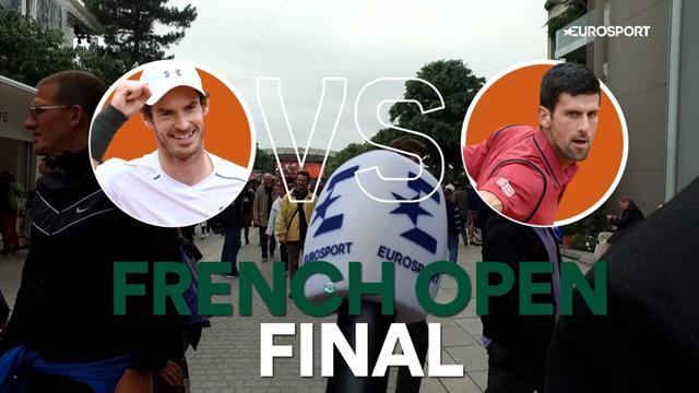 Djokovic- Murray: So tippen die Fans in Paris