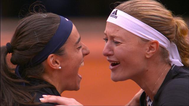 Große Emotionen nach Matchball im Finale des Damen-Doppel