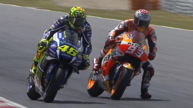 Rossi vainqueur devant Marquez, Lorenzo torpillé : le résumé d'une course folle