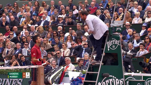 Djokovic legt sich mit dem Schiedsrichter an