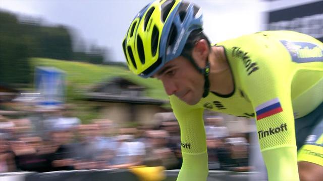 Alberto Contador victorious over Chris Froome in Criterium prologue