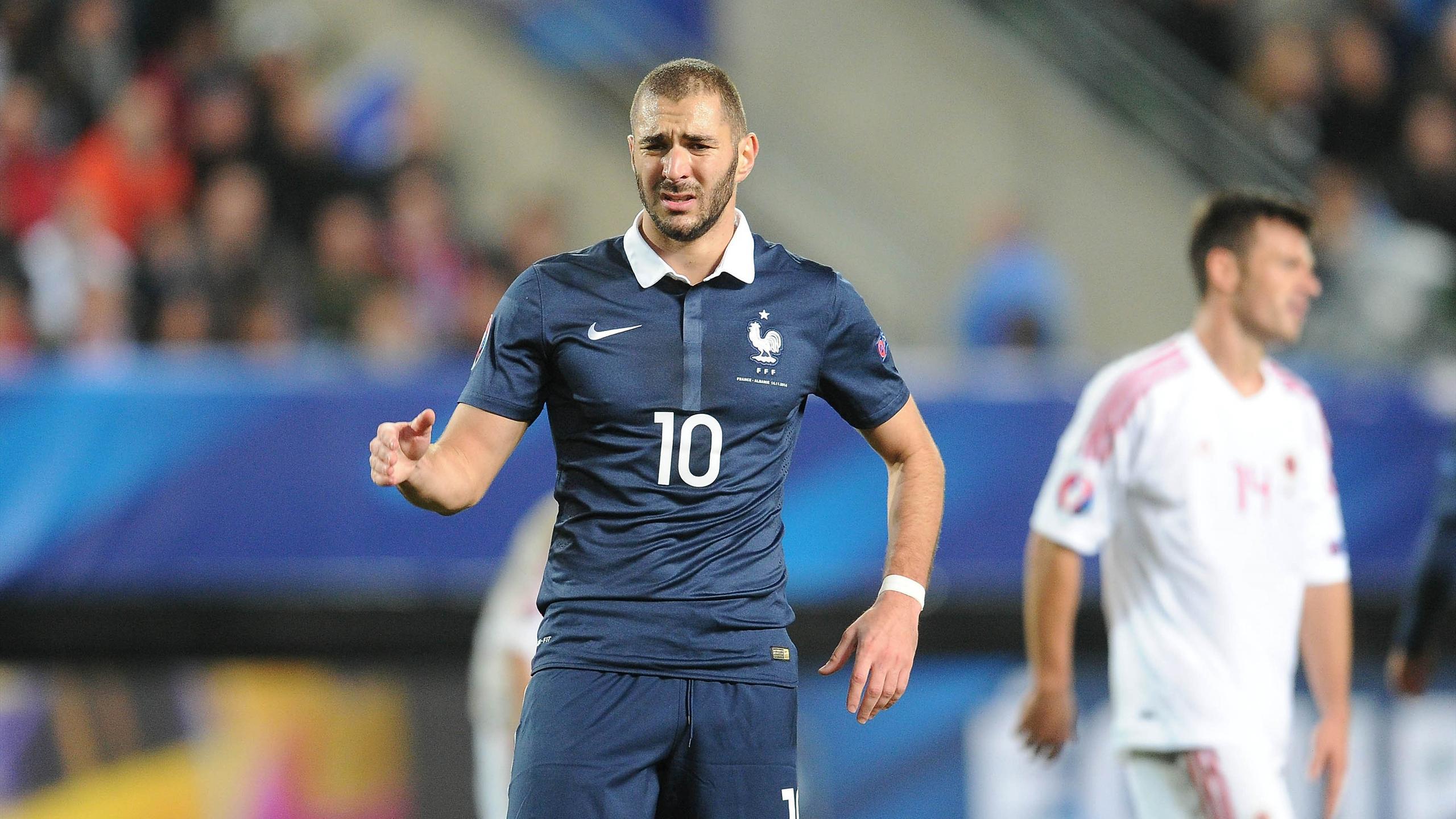 Karim Benzema avec l'équipe de France