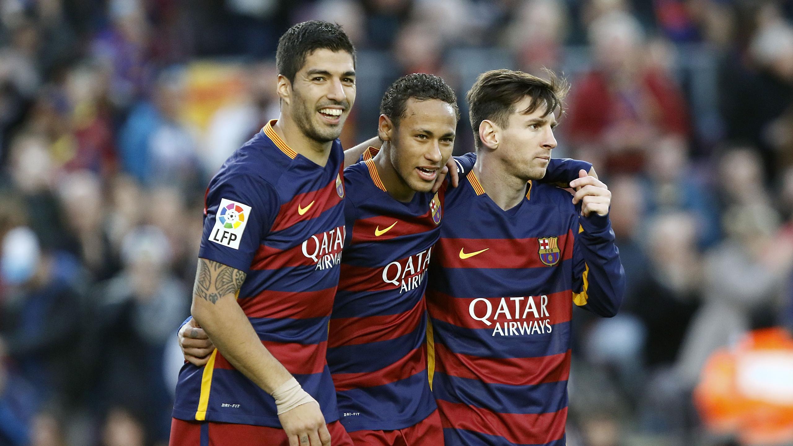 Luis Suarez, Neymar et Lionel Messi (FC Barcelone)