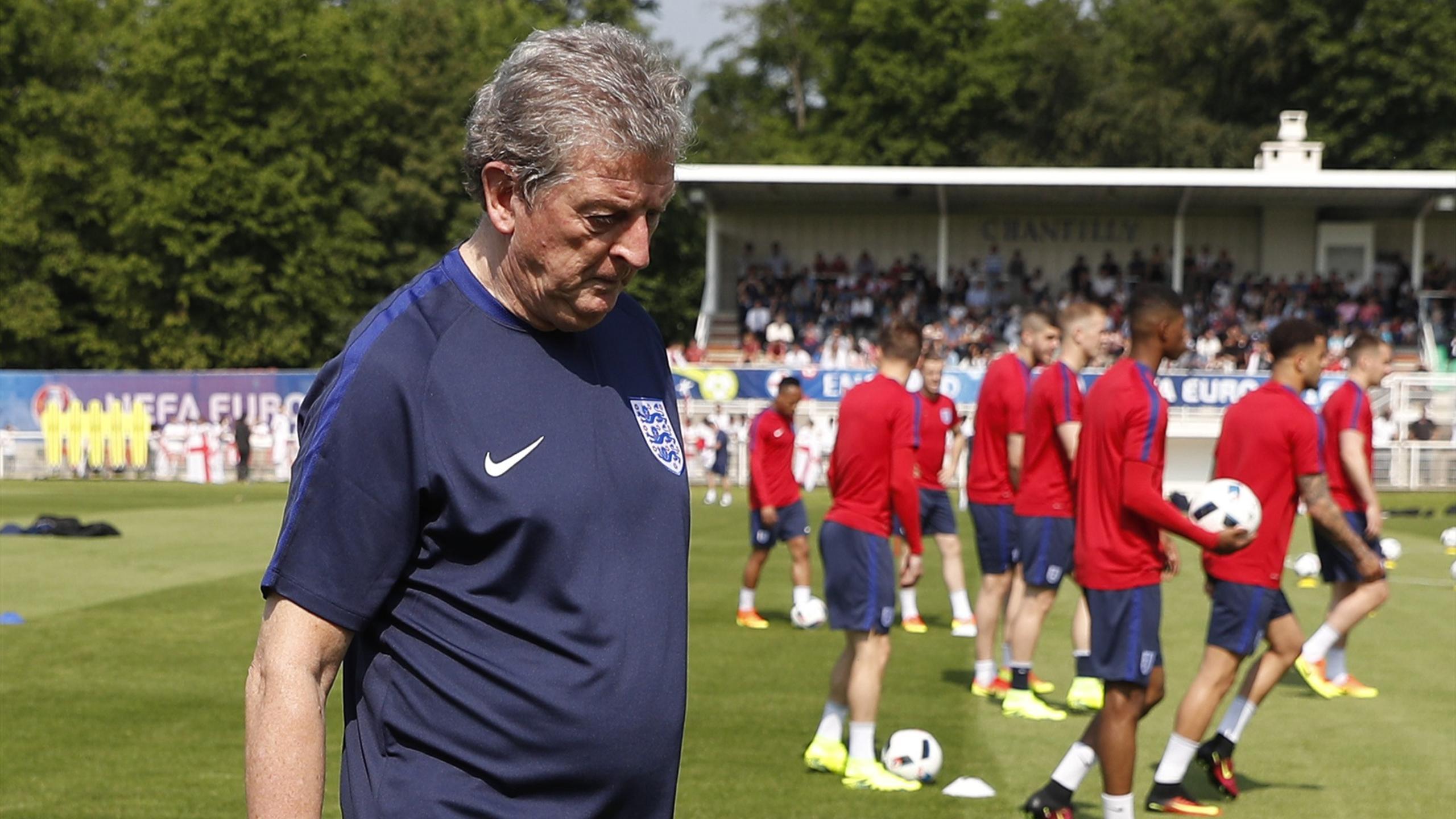 England's coach Roy Hodgson during training