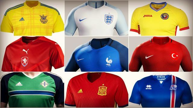 Votez pour le plus beau maillot de l'Euro 2016