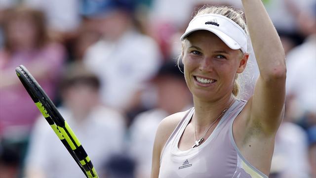 Caroline Wozniacki wins in Nottingham on return from injury