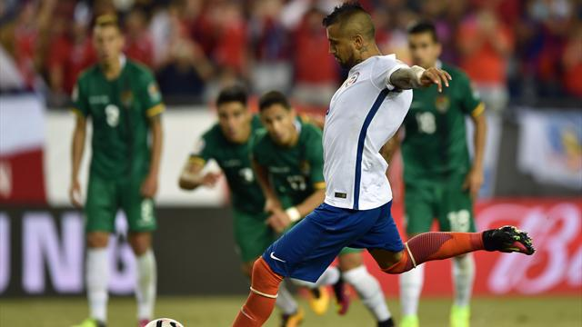 Vidal a délivré le Chili in extremis (avec l'aide de l'arbitre)