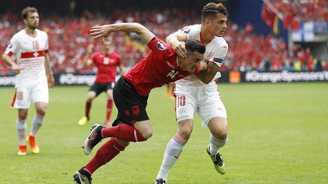 Switzerland edge 10-man Albania