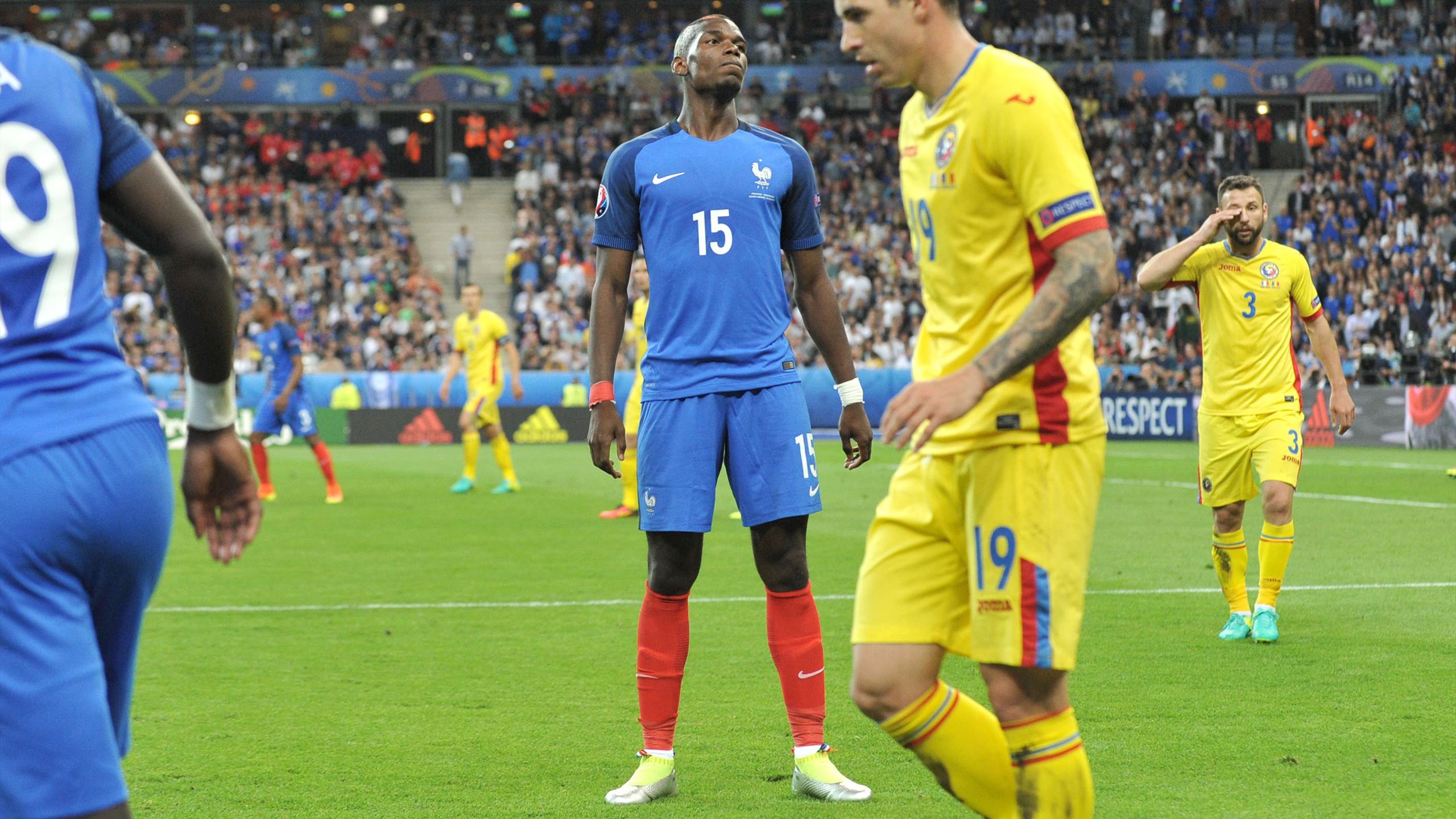 Paul Pogba (France) face à la Roumanie