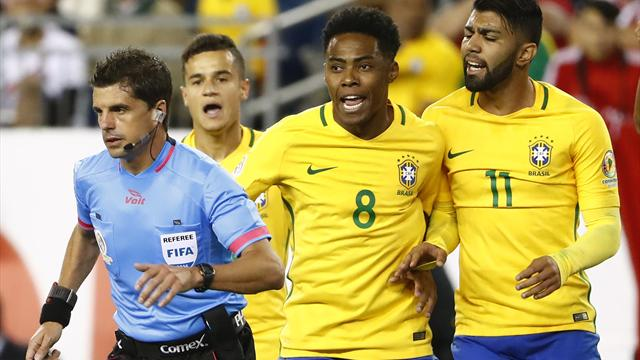Brazil knocked out of Copa America at group stage by Peru's handball goal