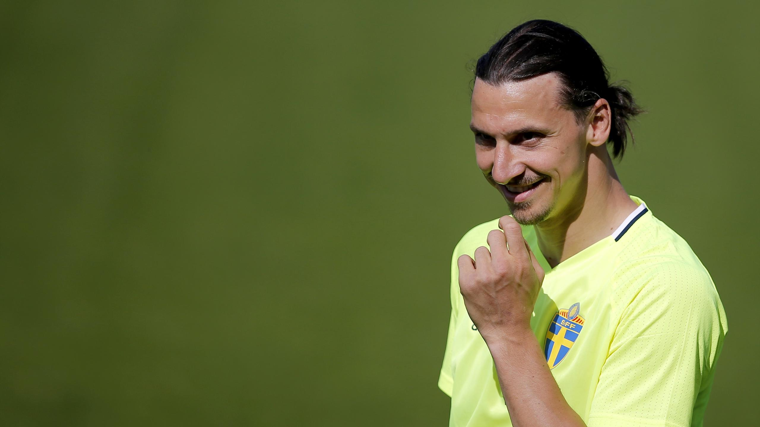 Sweden's Zlatan Ibrahimovic during training.