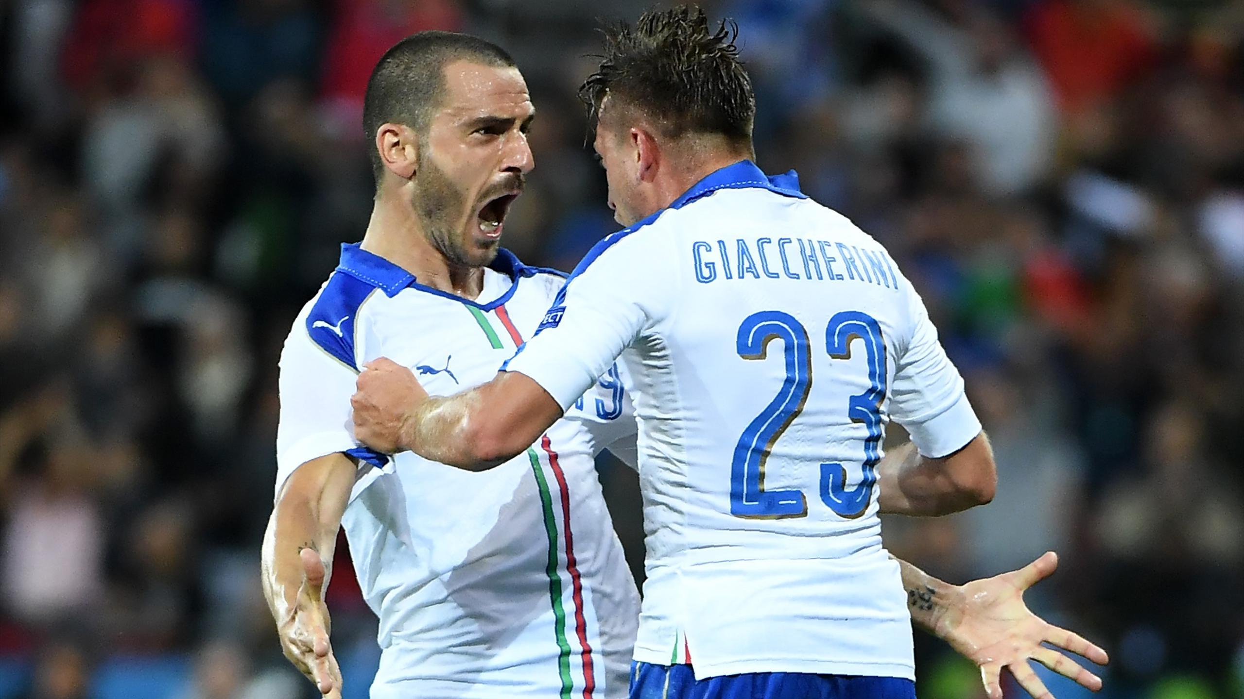 Bonucci and Giaccherini - Belgium v Italy - Euro 2016