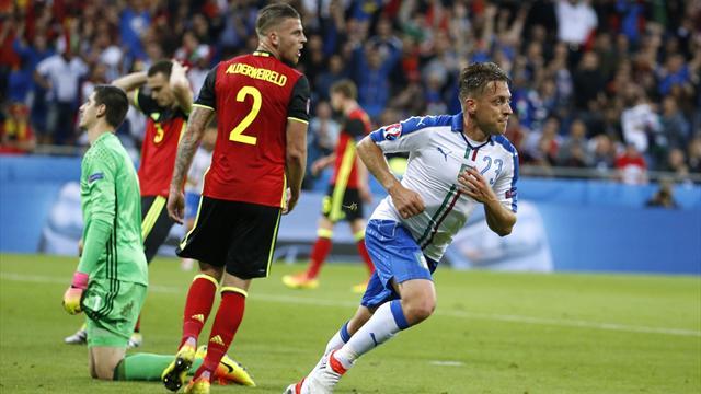 Solide et disciplinée, l'Italie a maté la Belgique
