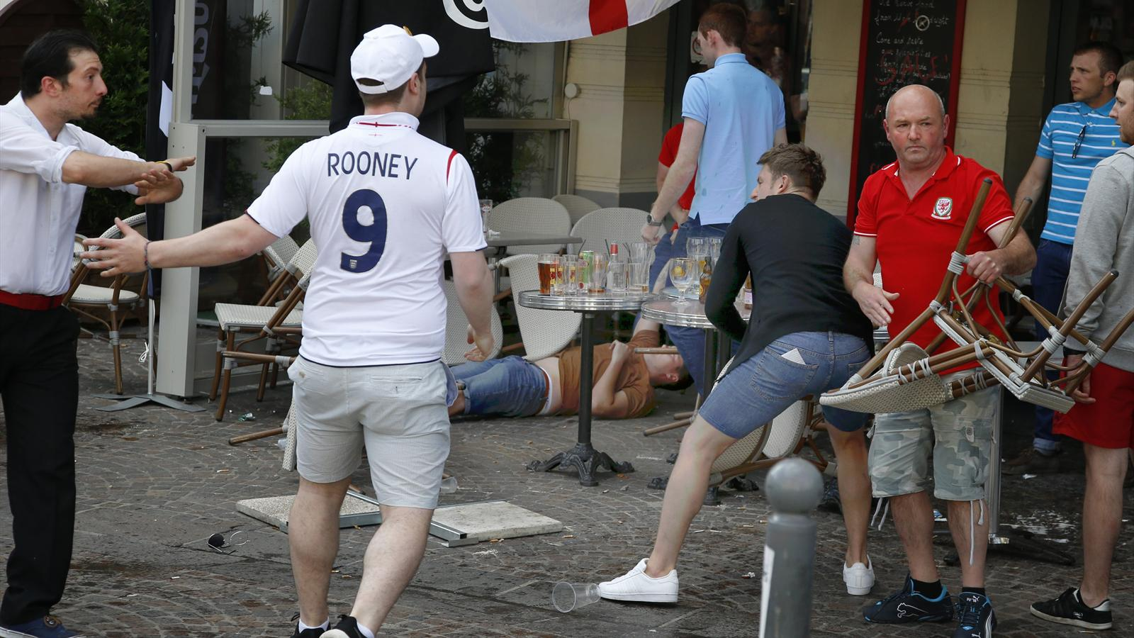 Euro 2016: Arrests in Lille as English and Welsh fans clash with Russians - Euro 2016 - Football ...